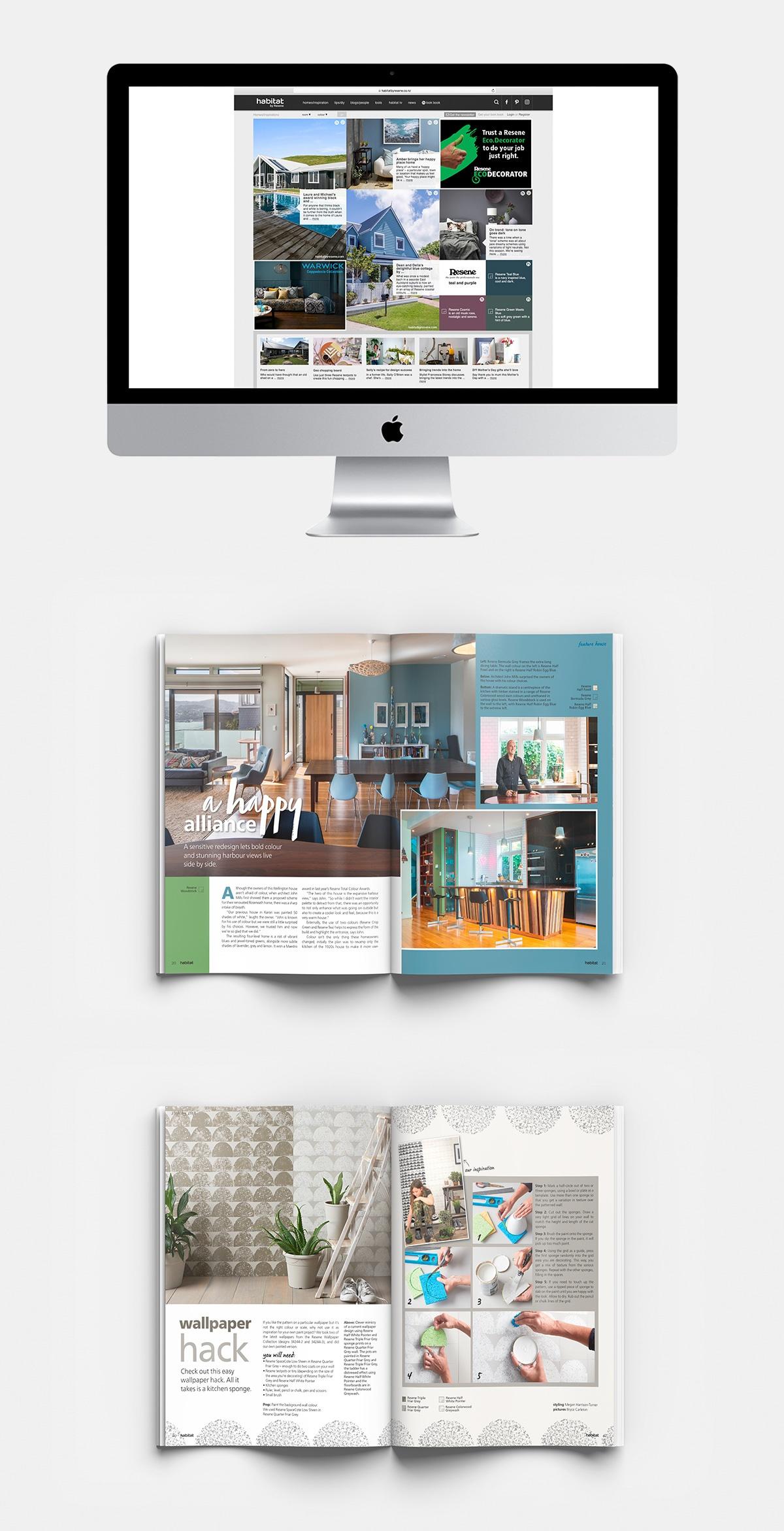 Habitat - A colorful magazine by Resene